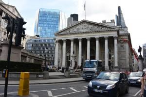 Bank of England a bankovní čtvrť